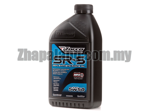 Torco SR-5 5W50 Synthetic Racing Oil