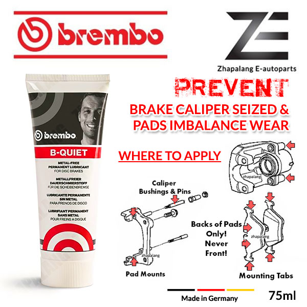 Brembo B-QUIET Brake Caliper Grease 75ml Multi Purpose Lubricant Extremely Water Resistant