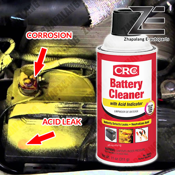 CRC INDUSTRIES 05023 CRC - BATTERY CLEANER WITH ACID LEAK INDICATOR/DETECH 311g