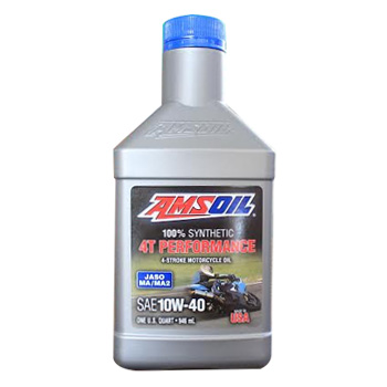 AMSOIL 4T Performance 10W-40 Motorcycle Oil (MC4)