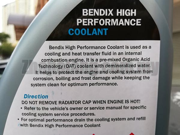 Bendix High Performance Coolant 1L - Image 3