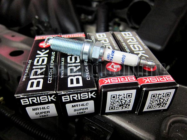Brisk Silver Racing Spark Plug for BMW/Mitsubishi Evo X/Mercedes C63/Mini Gen2/Nissan Almera MR14LC