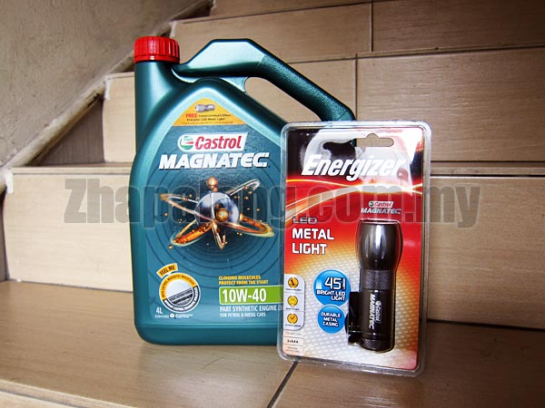 Castrol Magnatec Semi Synthetic 5W40 4L with Energizer Torch Light