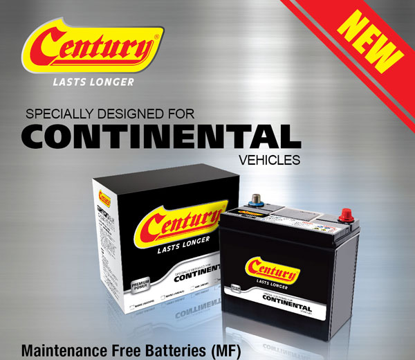 Century Lasts Longer Series Maintenance Free (MF) Battery DIN65L/R