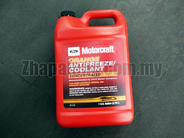 Genuine Ford Motorcraft Fluid VC-3-B Orange Concentrated Antifreeze/Coolant 1 US Gallon
