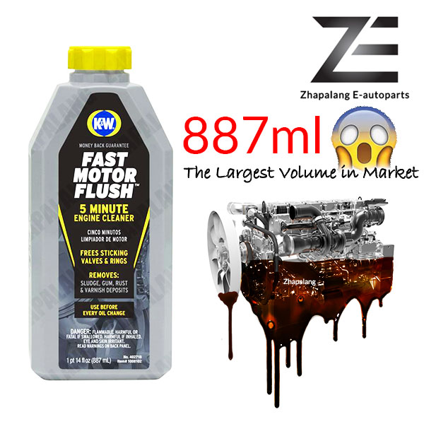 K&W Fast Motor Engine Flush 5-Minute Engine Cleaner 887ml