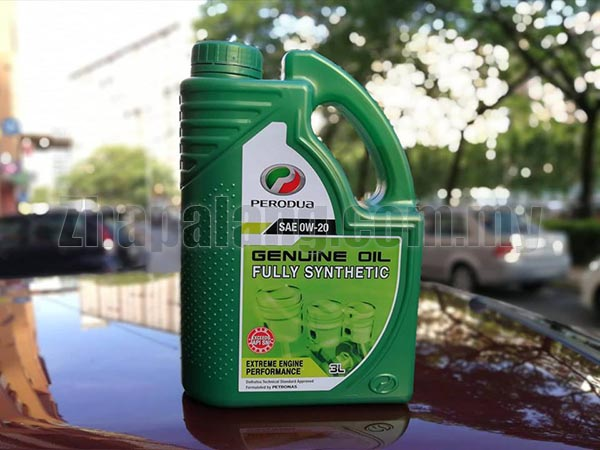 Original Perodua 0w20 Fully Synthetic Engine Oil 3L Pack