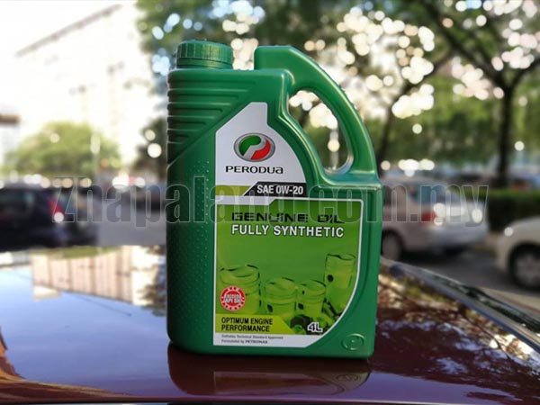 Original Perodua 0w20 Fully Synthetic Engine Oil 4L Pack