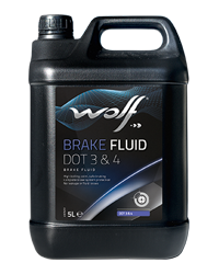 Wolf Brake Fluid Dot 3 & 4 - 250ML