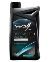 Wolf Official Tech 75w140 Semi Synthetics LSD Oil GL5 - 1L
