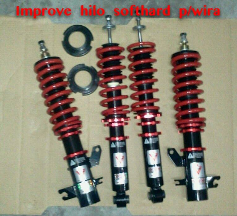Improve Hyper Flex Entry Hi-Lo Soft Hard Spec Fully Adjustable Coilover for Proton Wira/Satria/Putra/Waja/Gen2