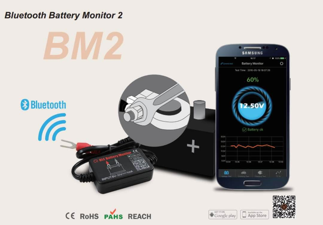 BM2​​ BLE Battery Monitor Bluetooth 4.0 12V Battery Tester 4WD RV