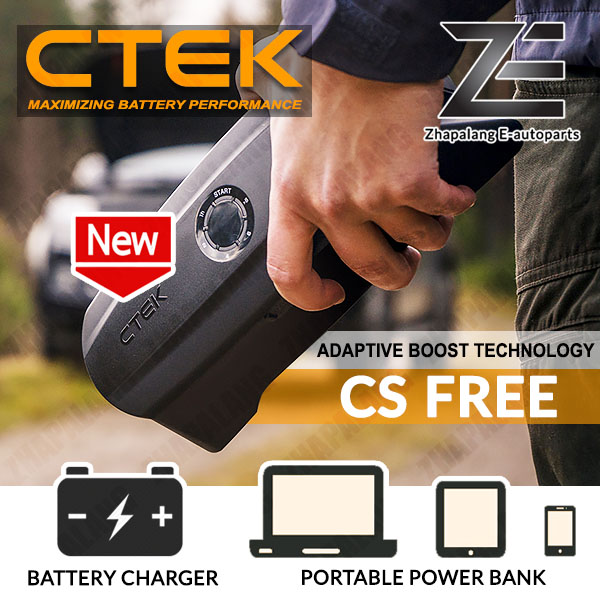CTEK CS FREE Portable Battery Charger 12V Lithium / Lead Acid 20A