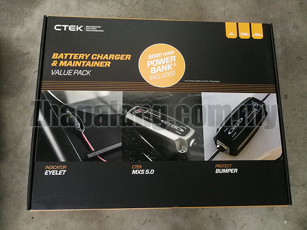 CTEK Limited Edition Value Pack Car Battery Charger Kit MXS5.0 + Bumper 60 + Comfort Indicator Bundle Set