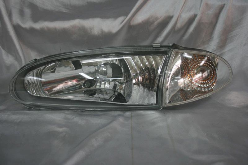 Proton Wira / Satria / Putra / Arena  Chrome Face Crystal Headlamp ( Glass )