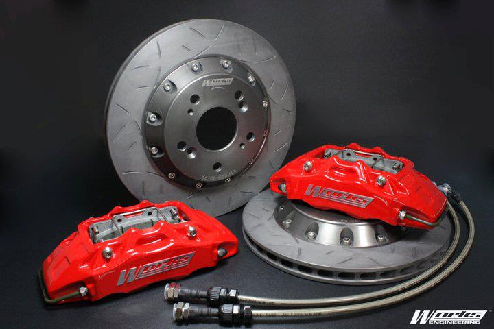 Works Racing 4 Pot Brake Kit Mitsubishi Lancer '95 - '00 PCD100 (286mm)
