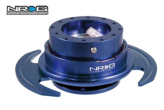 NRG Steering Quick Release 3.0 Blue with Batman Pedal