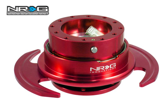 NRG Steering Quick Release 3.0 Red with Batman Pedal