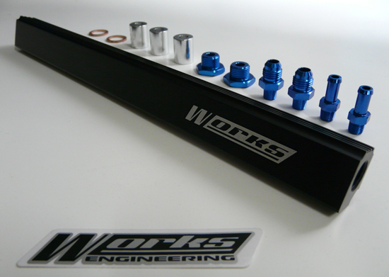 Works Engineering Mitsubishi Evo 1-3 & VR4 Fuel Rail Kit