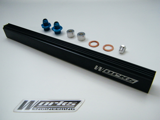Works Engineering Mitsubishi 4G63 Evo 4/5/6/7/8 Fuel Rail Kit