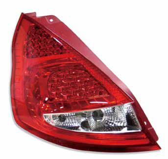 Ford Fiesta 2010  Red Clear LED Tail Lamp