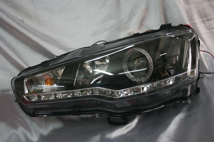 Proton Inspira 2010  Black Face Projector Headlamp with DRL