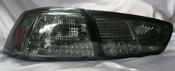 Proton Inspira 2010  Chrome Face Smoke Lens LED Tail Lamp - L Style