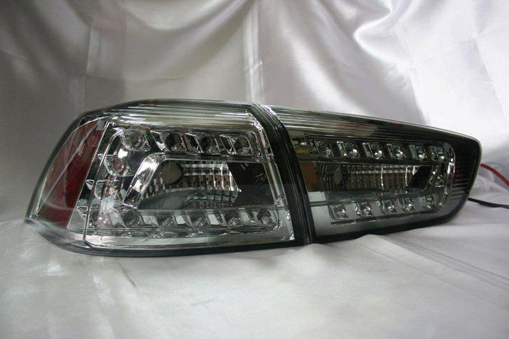 Proton Inspira 2010  Chrome Face Smoke Lens LED Tail Lamp - Audi Style