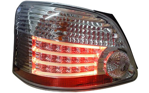 TOYOTA VIOS 07  RED CLEAR LED TAIL LAMP