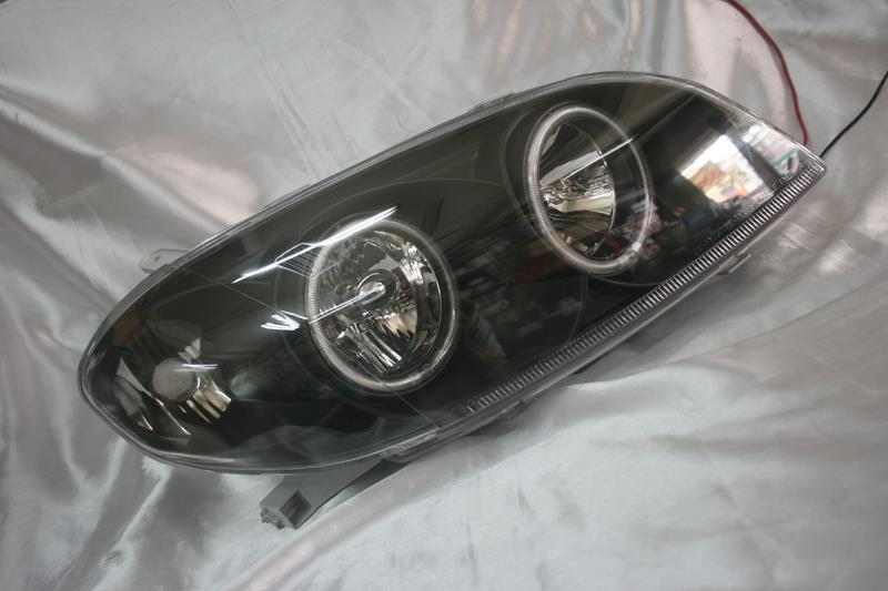 Toyota Vios 03-05  Black Face Crystal Headlamp w CCFL Ring