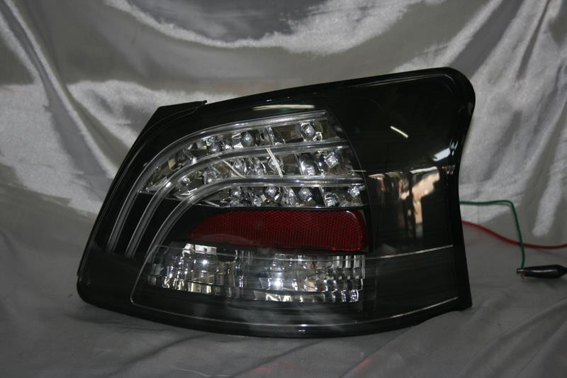Toyota Vios 07 Black Face Clear Lens Light Bar + Led Tail Lamp