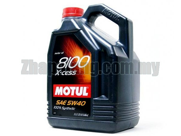 Motul 8100 X-Cess 5W40 100% Fully Synthetic 5L