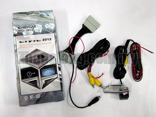 I-mid display Plug and Play Reverse Camera for Honda Civic 2012