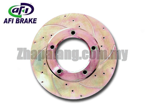 AFI RS Sport Drilled Slotted Brake Rotors Hilux KUN25 2.5 Front