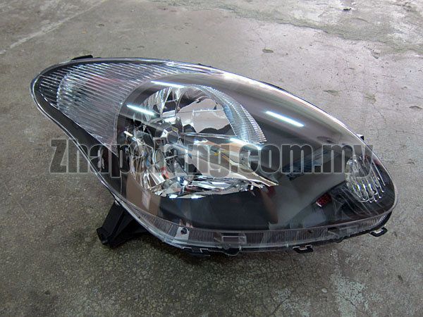 Aftermarket Perodua Myvi 1.3 Head Lamp Black Face RH