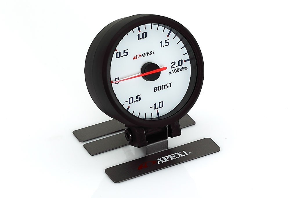 Genuine Apexi ELII System Meters – Mechanical Boost KPA (White Face/ Black Bezel)