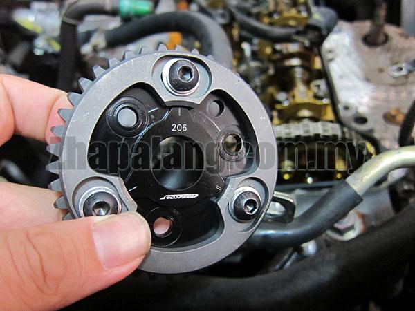 Arospeed Adjustable Cam Pulley for Perodua Myvi K3VE(Exhaust