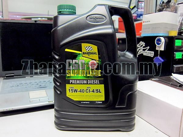 Bardahl C60 Super Lube premium Diesel Engine Oil SAE 15W40 CI-4/SL 7L
