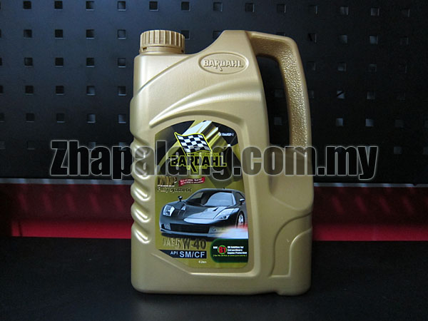 Bardahl Fully Synthetic Engine Oil SAE 5W40 SM/CF