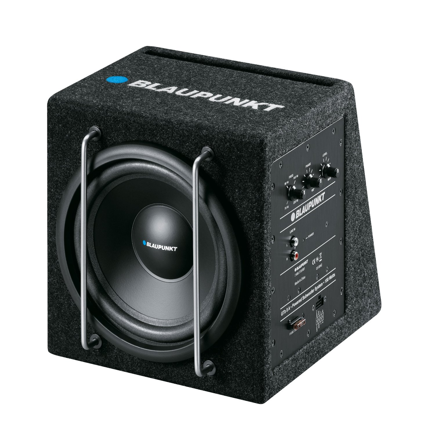 "Blaupunkt GTb 8A 8"" Active Subwoofer 150W Car Audio"