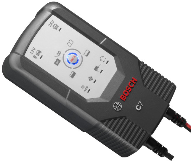 Bosch C7 12/24-Volt 6-Mode One Touch Battery Charger and Maintainer