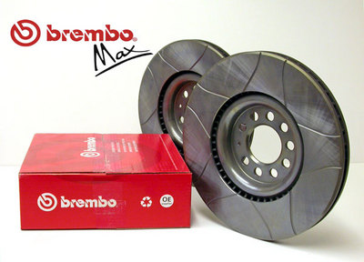Brembo Max Slotted Brake Discs for Proton Waja 1.6 Front