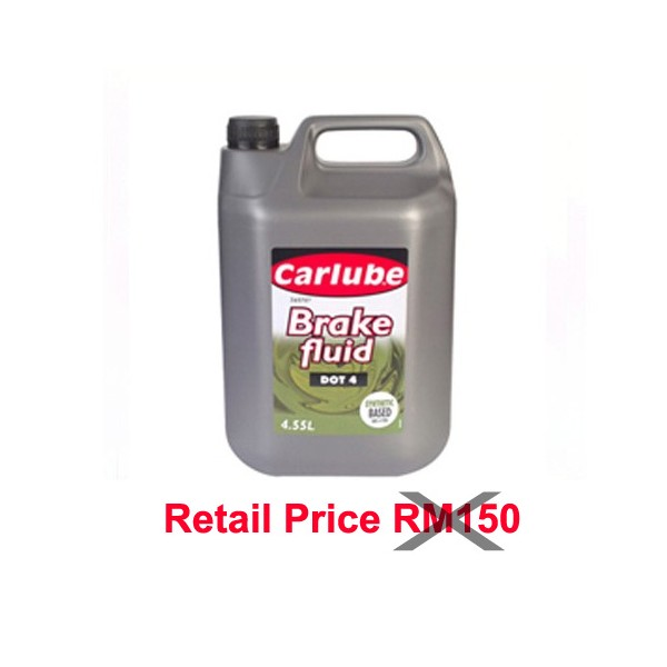 Carlube Dot 4 Brake Fluid 4.55L