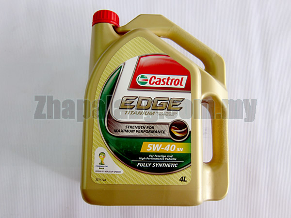 Castrol EDGE Fully Synthetic 5W-40 SN 4L