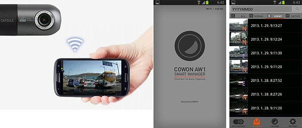 Cowon AW1 Auto Capsule - The Most Advance Black Box with Full HD & Wifi - Image 5