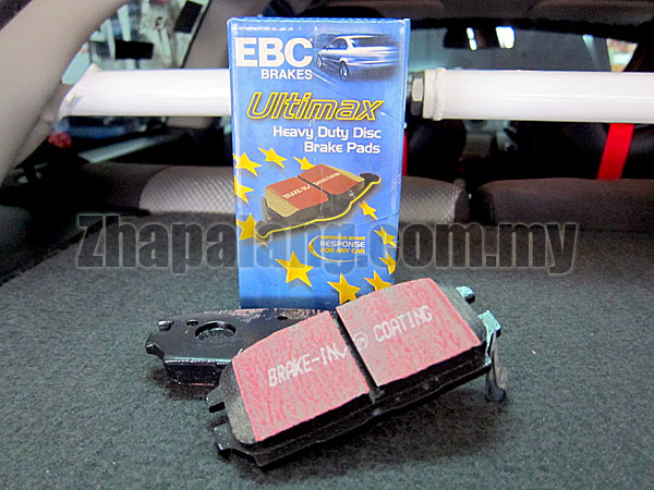 EBC Ultimax Blackstuff Rear Brake Pads Mitsubishi Evo3,4 / 3000GT / Galant / Sigma