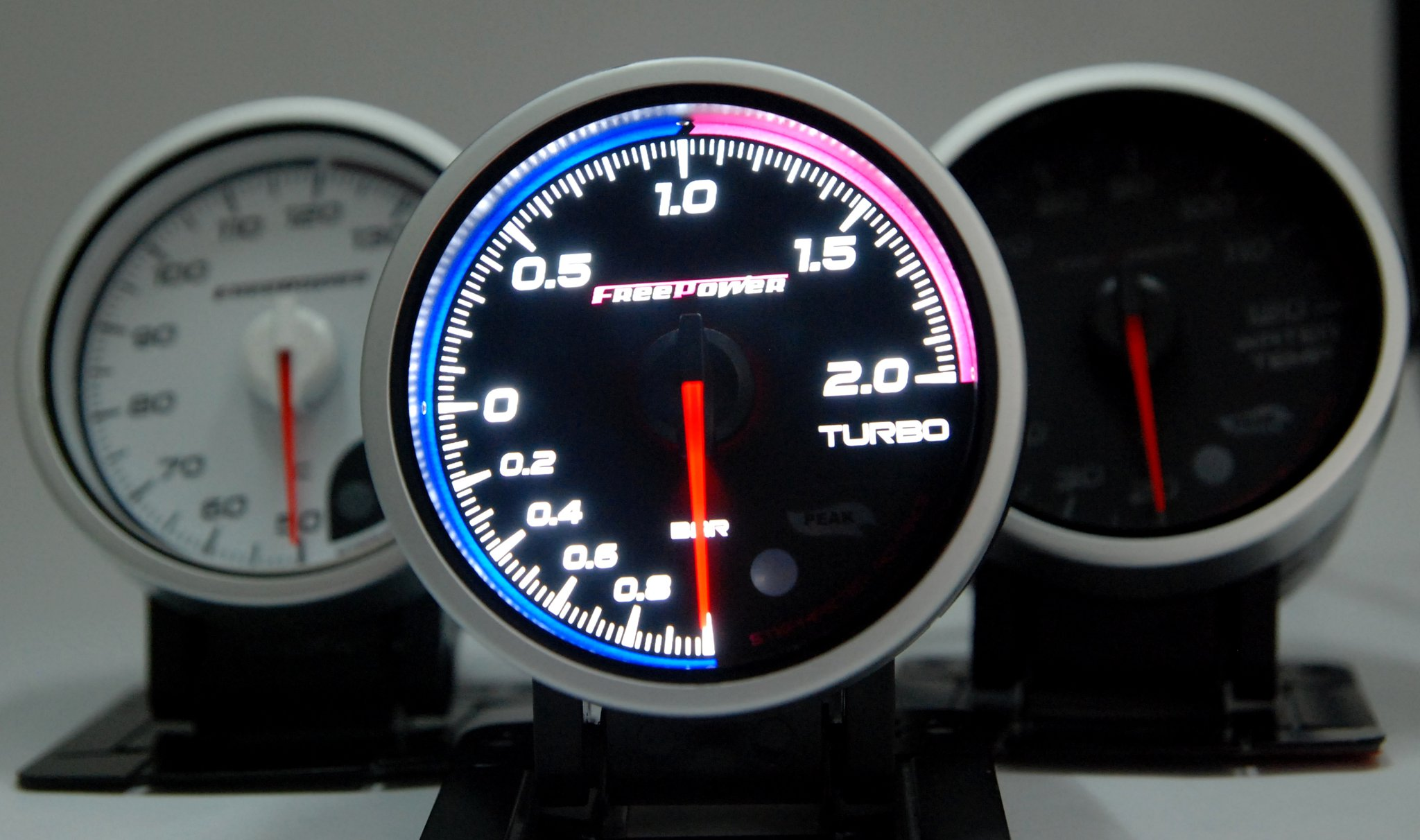 Freepower Stepmaster Advance II Racing Gauges/Meter(Clear) Turbo Boost