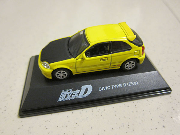 [1:72]Initial-D Honda Civic Type-R EK9 Black Hood