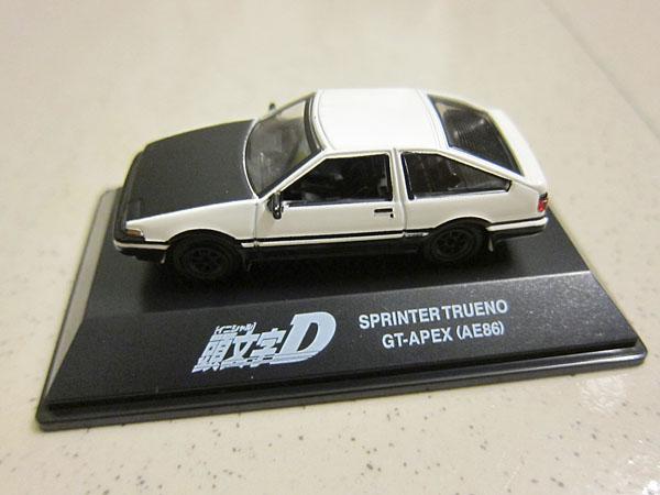 [1:72]Initial-D Toyota Sprinter Trueno GT-Apex(AE86) Black Hood