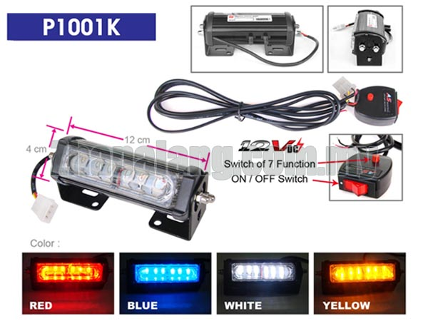LED emergency strobe grille lightbar LED-P1001K Red